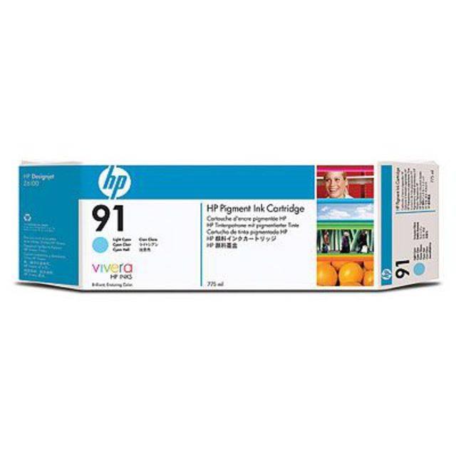Картридж HP 91 струйный светло-голубой (775 мл) - картинка товара