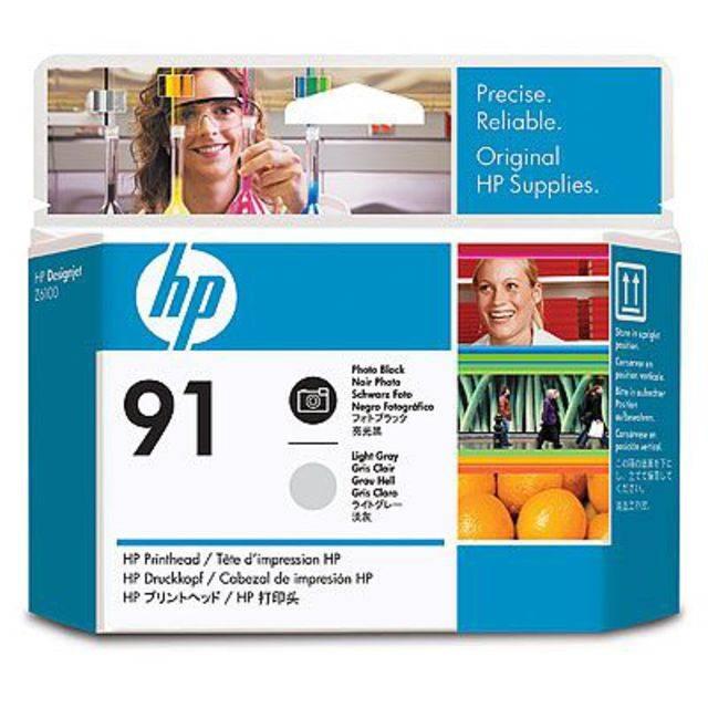 Печатающая головка HP 91 черная фото и светло-серая - картинка товара